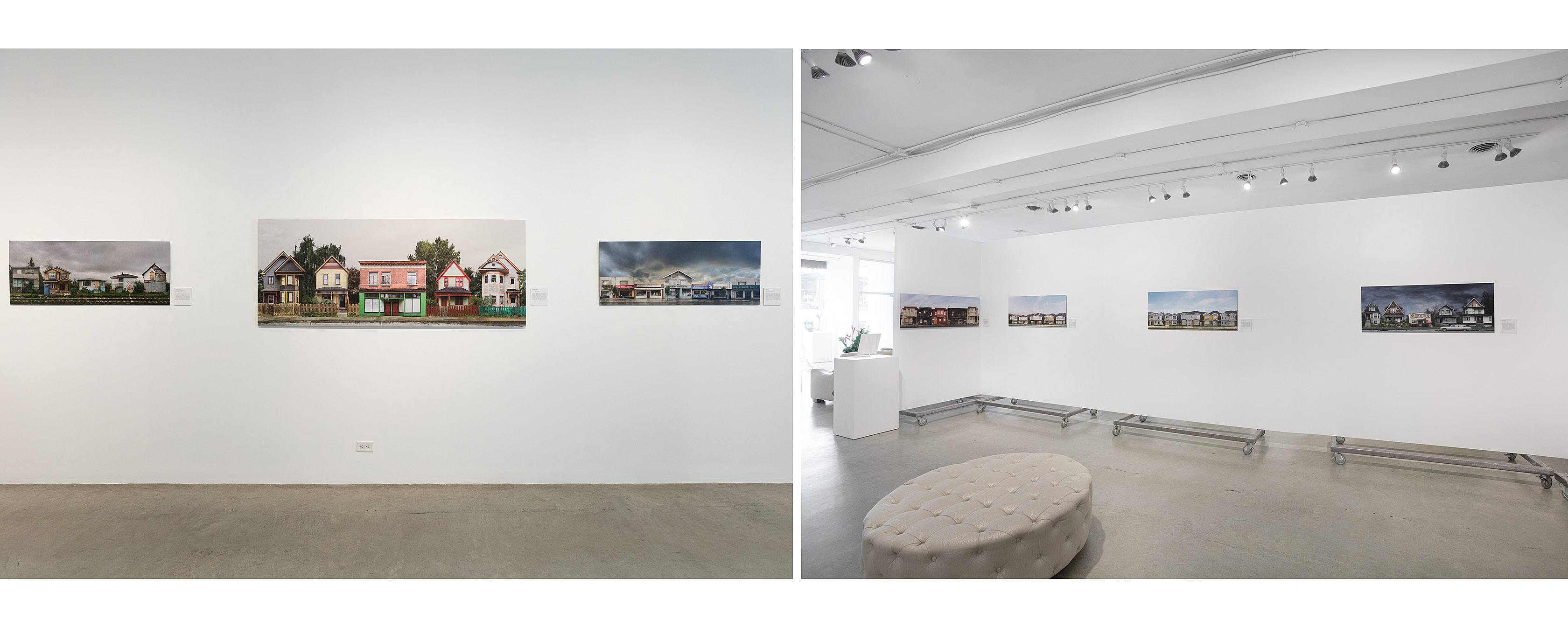30″ x 75″ and 18″ x 45″ prints, in installation